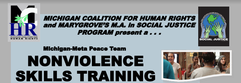 Michigan-Meta Peace Team Nonviolence Training
