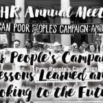 Upcoming Event! MCHR Annual Meeting – Poor People's Campaign: Lessons Learned and Looking to the Future